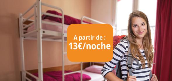 À partir de : 13€/nuit !