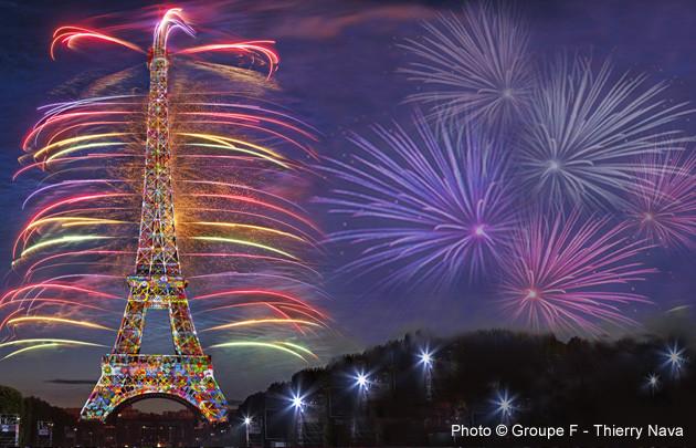 Feu D U0026 39 Artifice Du 14 Juillet Paris